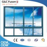 Finestra di scivolamento di vetro di alluminio di stile dell'Europa