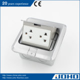 Socketes eléctricos del suelo, socket de múltiples funciones del suelo, socket múltiple del enchufe del uso de la oficina