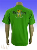 T-shirt de douille de short du coton imprimé par mode des hommes