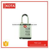 안전 아연 합금 자물쇠 Tsa 수화물 조합 통제 자물쇠