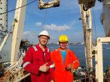 Gru marina idraulica telescopica per il cantiere navale 2t22m di Singapore