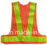 Safety nero Belt Vest con Yellow Reflective Tape