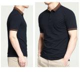 Os homens 2016 da forma da fábrica vestem do algodão a camisa 100% de polo