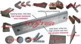 Placa blanca del desgaste de Cladded de los trazadores de líneas del desgaste del hierro de la placa bimetálica del desgaste