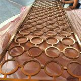 De binnenlandse Laser van de Muur van de Verdeling van het Roestvrij staal van het Ontwerp sneed het Scherm met Geborstelde Kleur voor de Architecturale Projecten van de Luxe
