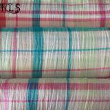 Ткань проверки хлопка сплетенная Seersucker покрашенная пряжей для рубашек/платья Rls50-22se