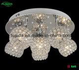 6 전등갓을%s 가진 수정같은 천장 점화 LED 수정같은 샹들리에 빛