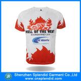 T-shirt do competidor da promoção da oferta do preço barato feito sob encomenda com logotipo