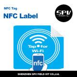 Collant imperméable à l'eau de téléphone de l'animal familier Ntag215 ISO14443A Nfc d'à haute fréquence