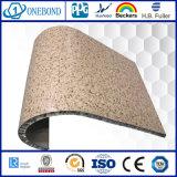 Панель сота мраморный зерна алюминиевая