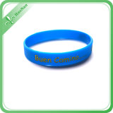 Color blu Debossed Printing Logo Clear e Good Silicone Wristband