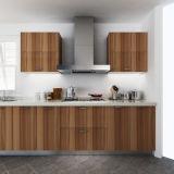 Mobilia di legno verde oliva della cucina del grano della melammina di prezzi bassi di progetto Oppein (OP14-M08)