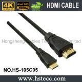 Mini HDMI cable rápido de la producción 2.0V