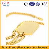 Reflective promocional Gold Plate Zinc Alloy Metal Dog Tag para Decoration