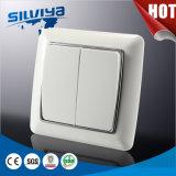 Interruptor de parede europeu elétrico de alta qualidade de cor branca