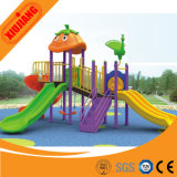Großer Plastikim freienspielplatz-doppeltes Plättchen mit Schwingen für Kinder