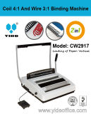 4:1 A4 Size Coil и 3:1 Wire 2 in-1 Binding Machine (CW2917)