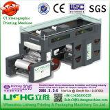 Impresora flexográfica del tambor central de 4 películas de colores