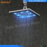 """Cabeza de ducha cuadrada de cobre amarillo de la lluvia LED de la precipitación de Beelee 8 """""""