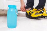 Botella plegable del silicón suave al aire libre de categoría alimenticia práctico
