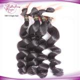 Cabelo frouxo da trama do dobro da onda do cabelo humano do Virgin do brasileiro da venda por atacado 100%