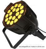 PAR64 18X15W RGBWA+UV 6in1 급상승 동위는 빛을 세척할 수 있다