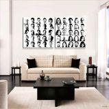 Wand-Kunst-dekorativer Portrait-Farbanstrich