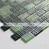 Плитка мозаики зеленого смешивания плавя стеклянная в картине скрепления кирпича (BGZ018)