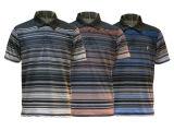 Chemise de polo estampée par sublimation de piste d'hommes