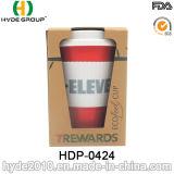 Verschiedene Farbe BPA geben Bambusfaser-Kaffeetasse frei (HDP-0424)