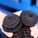 7A織り方のカンボジアのバージンの毛のアフリカのねじれた巻き毛のバージンの毛の100%年のRemyの人間の毛髪は拡張をもつれを取除かないこと束ねない