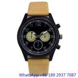Het Horloge van het Kwarts van het Roestvrij staal van de hoogste-kwaliteit met Echte Band, de Horloges van de Chronograaf van de Mens (hlja-15176)