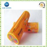 Bolso de los efectos de escritorio de la cremallera de la caja de la caja de la pluma del lápiz del estudiante de la escuela (JP-plastic052)