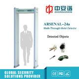 Detector de metales de interior ligero sano de la arcada de la seguridad de la alarma 66kg con 6/12/18 de las zonas