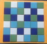 Mosaico di ceramica della porcellana blu per la piscina