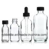 0.5oz/15ml, 1oz/30ml, 2oz/60ml, 4oz/120ml bernsteinfarbig/Grün/blauer/freier Boston-runder Glasflaschen-Hersteller