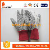 Садовничая перчатка Dcd201 МНОГОТОЧИЯ польки перчаток белая