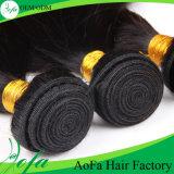 安いブラジルのバージンの毛の人間の毛髪の拡張製品