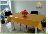 Het In reliëf gemaakte Tafelkleed van pvc Goud met Steun; Huis/Partij/Huwelijk
