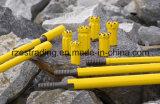 Bits de broca da rocha da tecla da linha do aço de carbono
