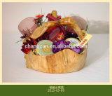 Деревянный корень 2015 высекая античный Handmade плодоовощ искусствоа Фабрики-Непосредственн нов цветет корзина