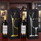 工場熱い押す黒いペーパー単一の赤ワインのギフトの包装の紙袋