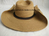 Sombrero cosido del borde de Shapeable del sombrero de vaquero de la trenza de la trenza de papel
