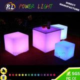 Cubo iluminado colorido do diodo emissor de luz da mobília do diodo emissor de luz do RGB