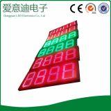 Segno di prezzi di numero di colore rosso LED