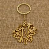 Catena chiave dell'oro vuoto su ordinazione del metallo con buona forma