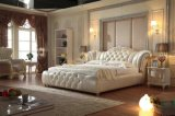 高品質の革柔らかいベッドの寝室の家具