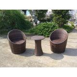 Outdoor Rattan de vime 2 cadeiras de assento com mesa de café (FS-2011 + 2012)