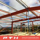 Almacén prefabricado de la estructura de acero del bajo costo de Pth con la instalación fácil