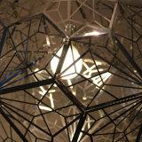 ヨーロッパのホテルの装飾的な多角形のステンレス鋼の円形のペンダント灯